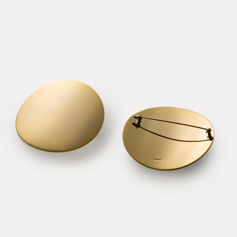moon broach (60mm / mat gold)