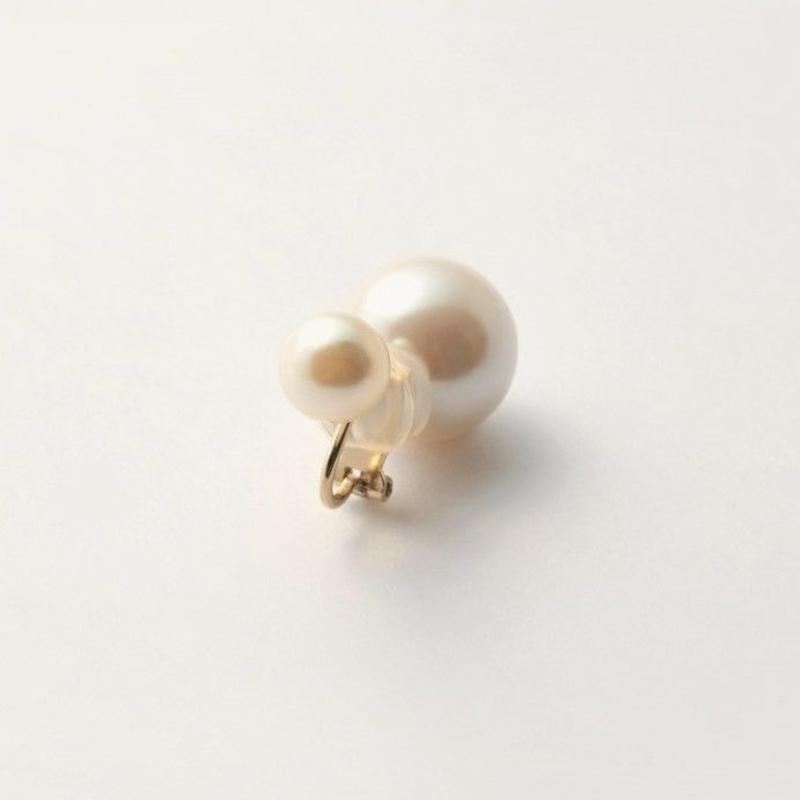 basic pearl rivets earring(white)
