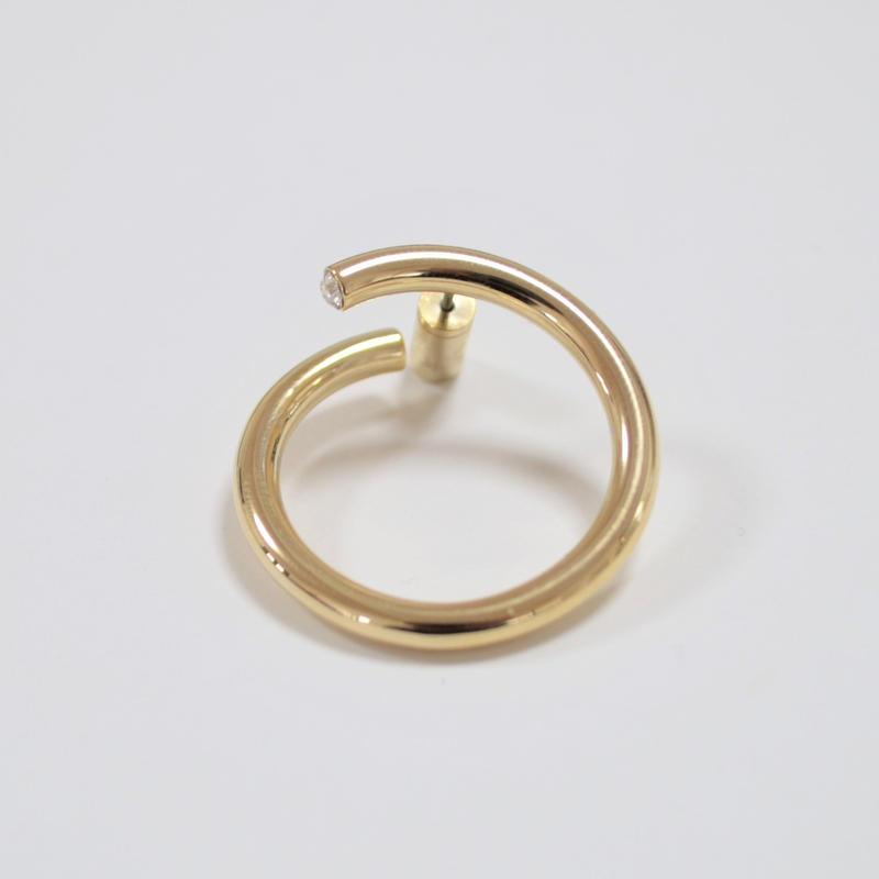 big circle pierce (gold)