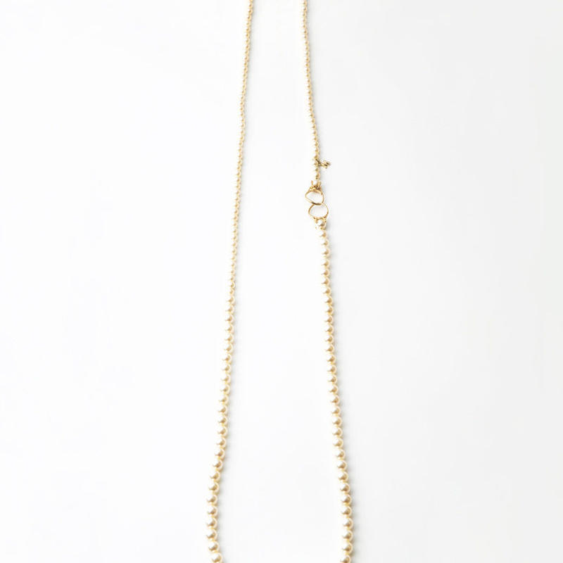 pearl necklace (6mm×8mm pearl / 120cm)
