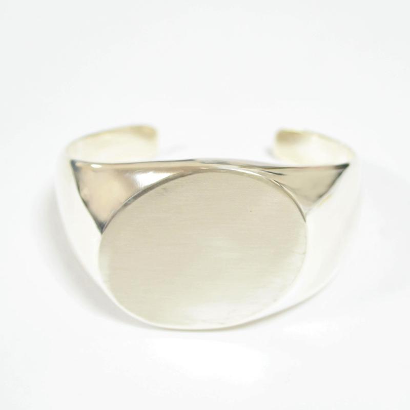 【ORDER】signet bangle (diagonal / silver / silver925)