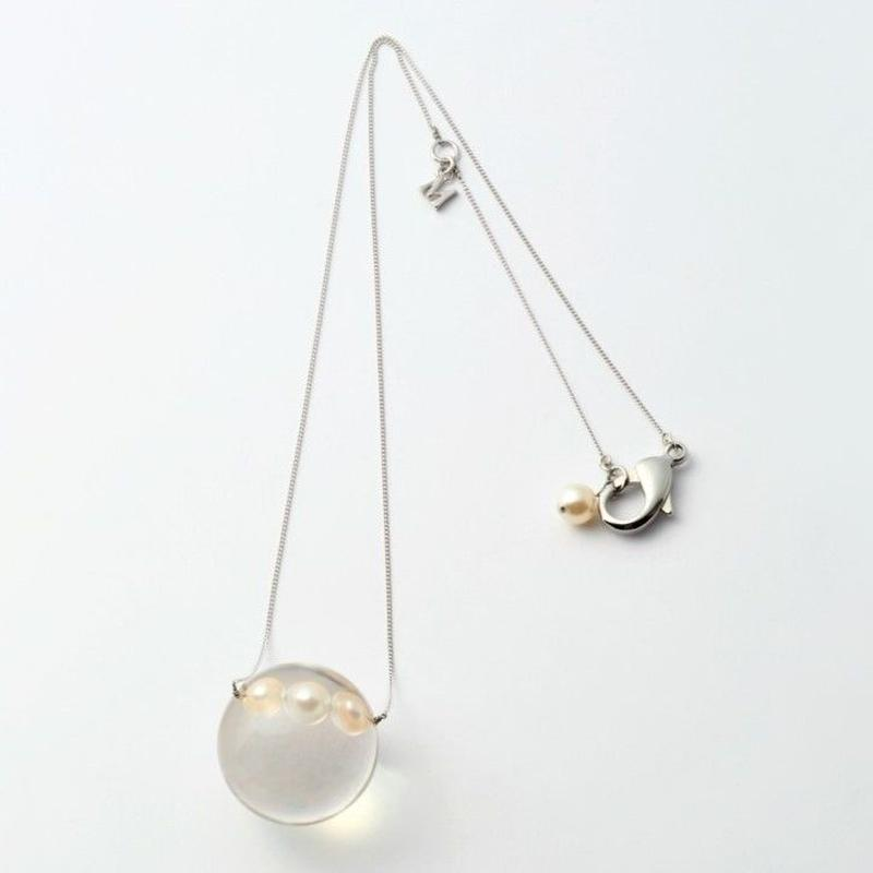 inclusion necklace (3 pearls)