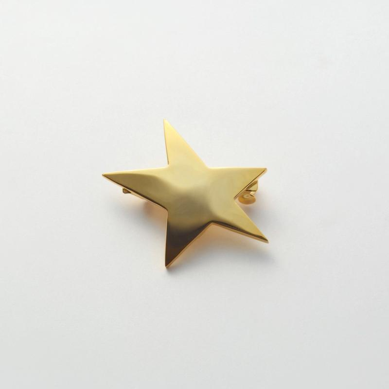 star hair jewelry (40mm star/ mirror gold)