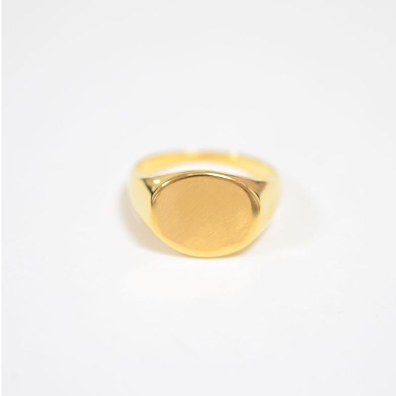 signet ring (horizontal / gold  / silver925)