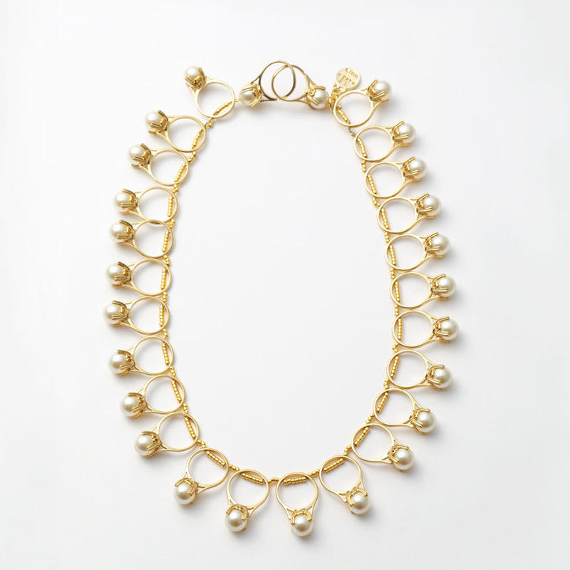 ring motif necklace (gold)