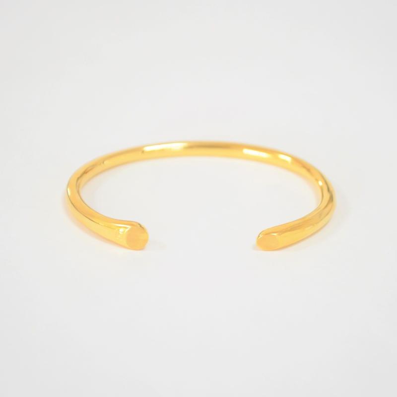【ORDER】signet bangle (gold / silver925)