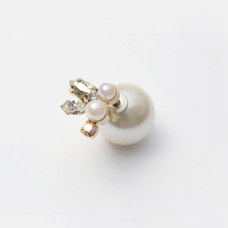 bijoux pierce (pearl×swarovski)