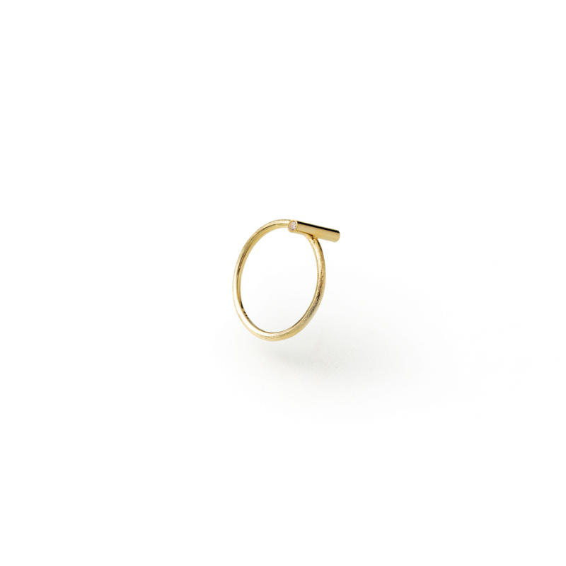 bar ring (10mm bar / gold)
