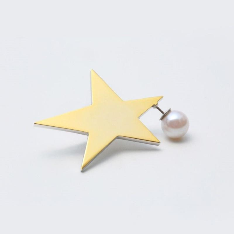 star pierce (reversible / large / gold×silver)