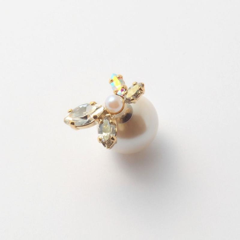 bijoux 4 crystals, pearl  pierce (Crystals , Pearl Mix)