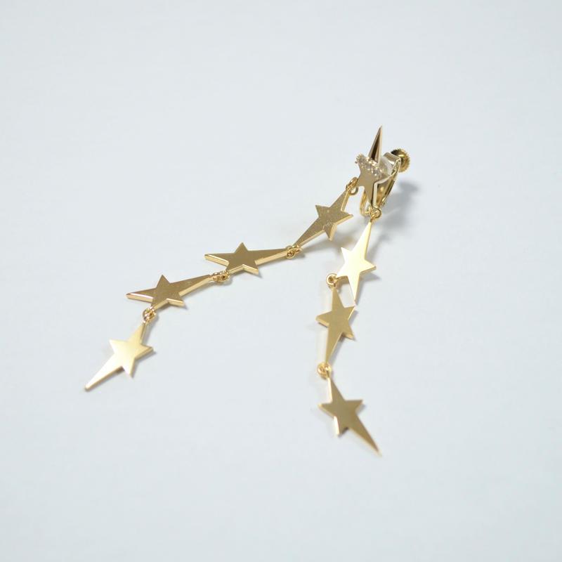 2way star earring(8star/cubiczirconia)