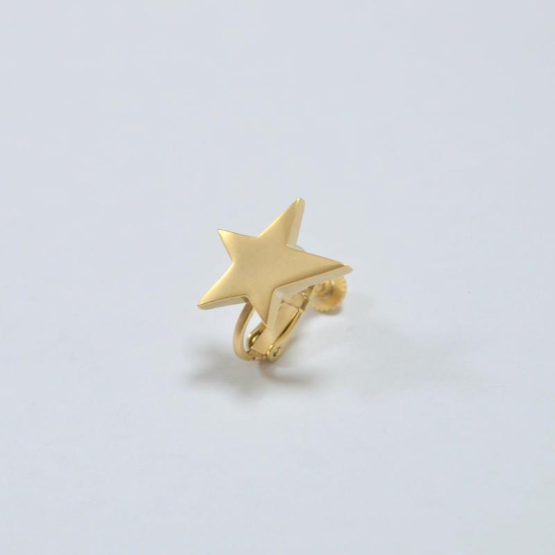 star earring ( small / mat gold )