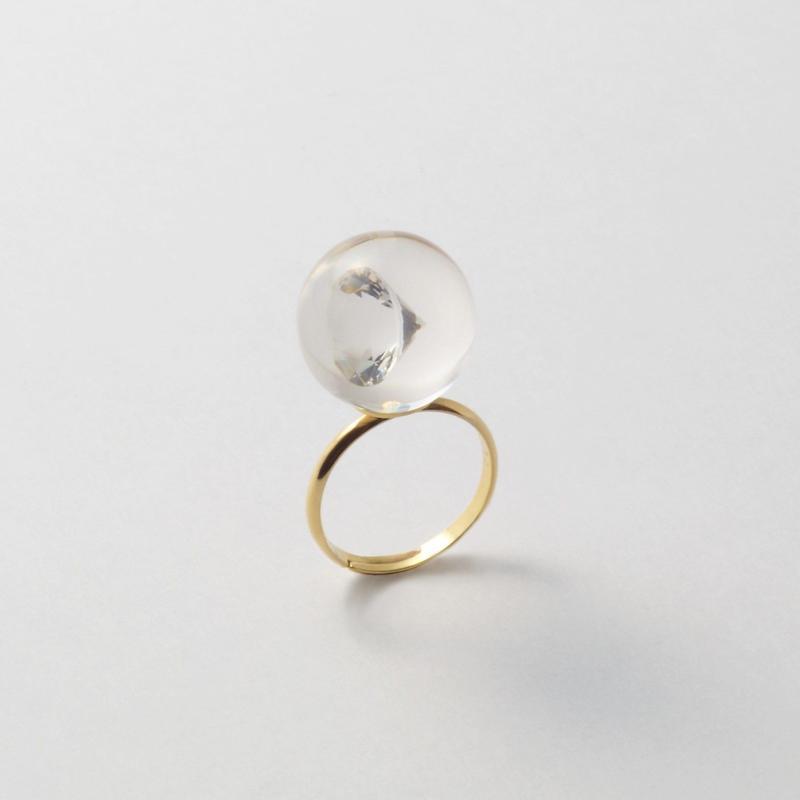 inclusion ring(cubic zirconia)