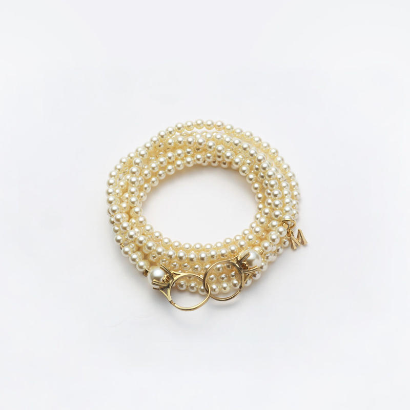 pearl necklace (4mm pearl / 120cm)