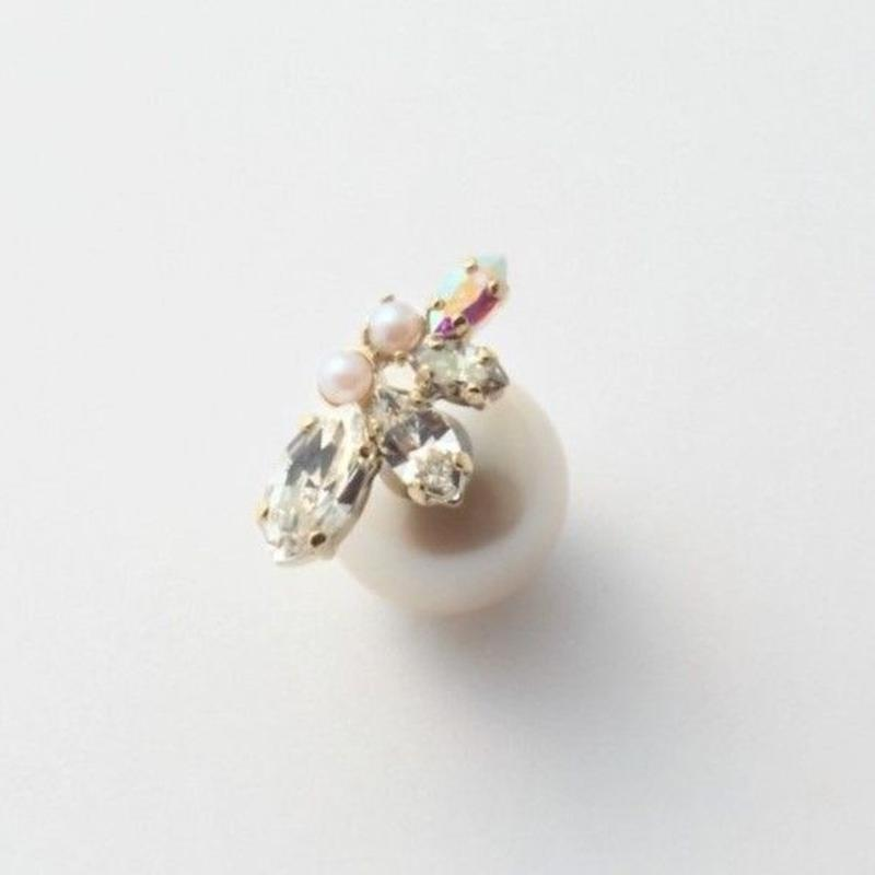 bijoux 4crystals , pearls pierce (Crystal ,Pearl Mix)