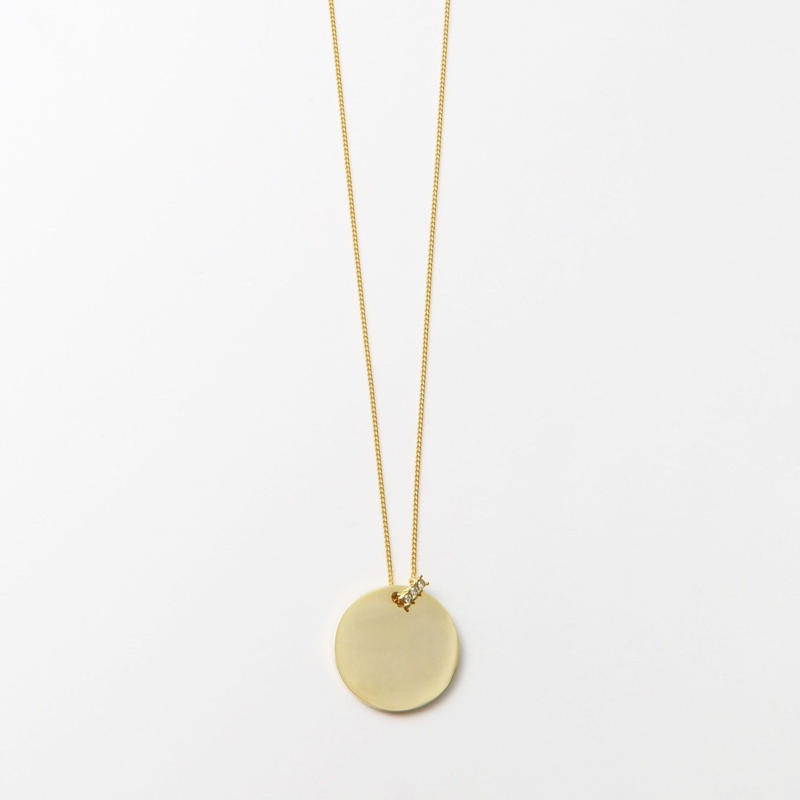 23mm gold circle necklace