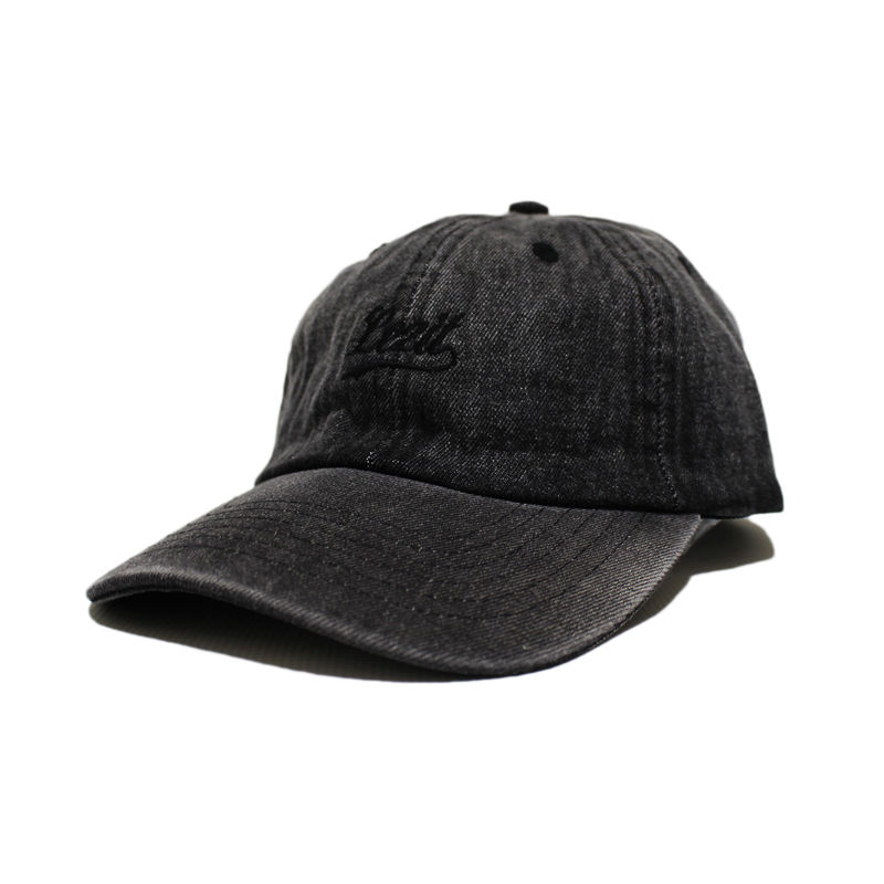 Cursive Cap [Wash Black Denim]