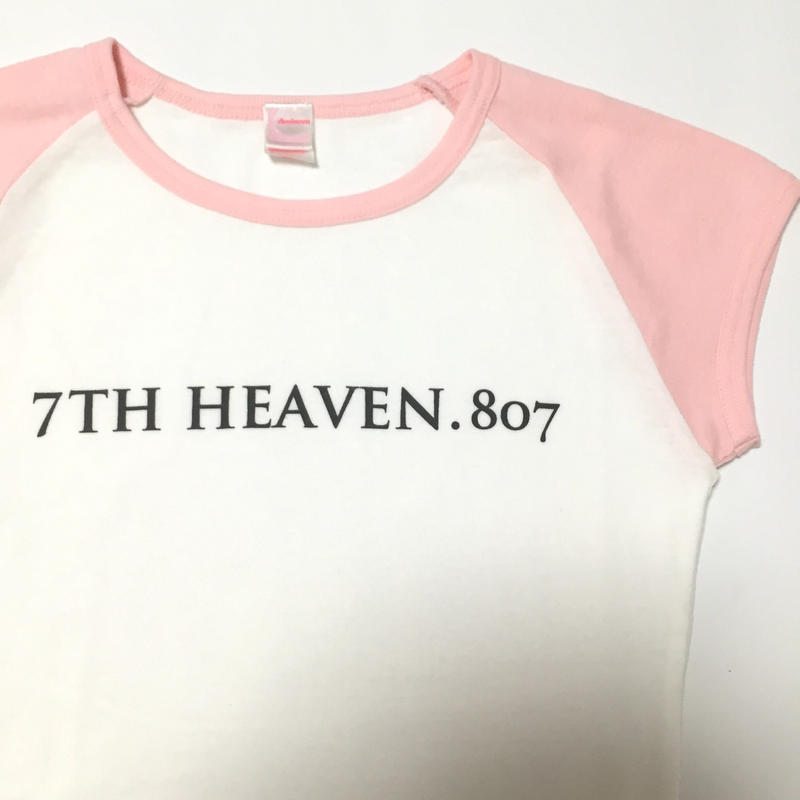 レディースラグランTシャツ(シャーベットピンク)-7TH HEAVEN.807-