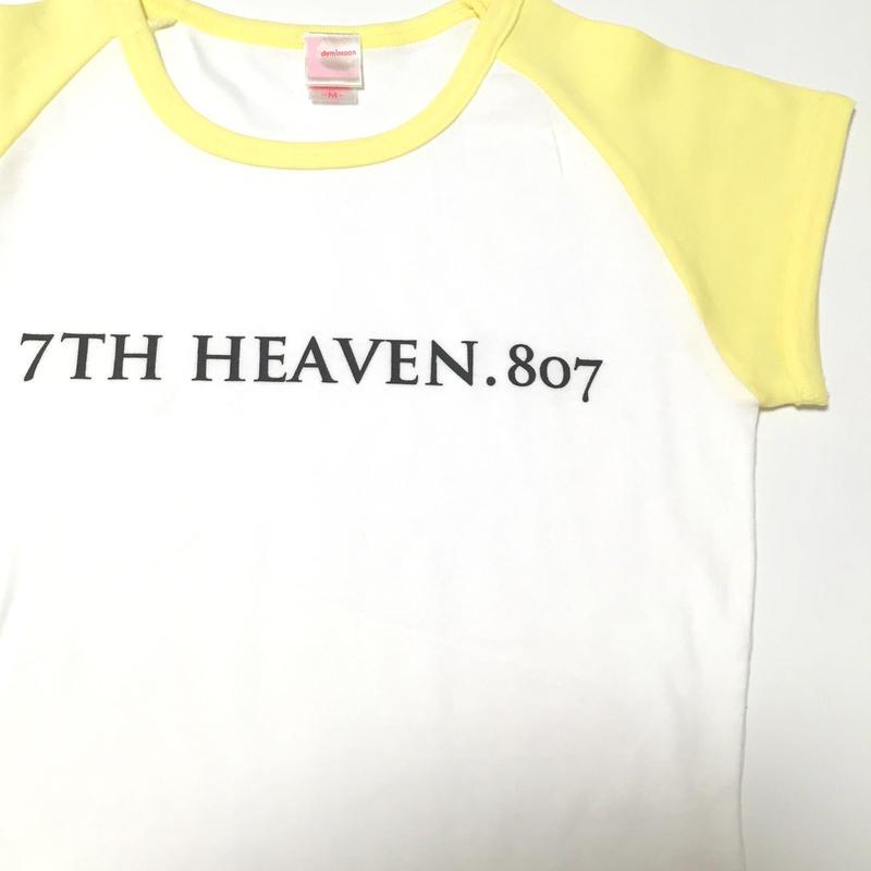 レディースラグランTシャツ(シャーベットイエロー)-7TH HEAVEN.807