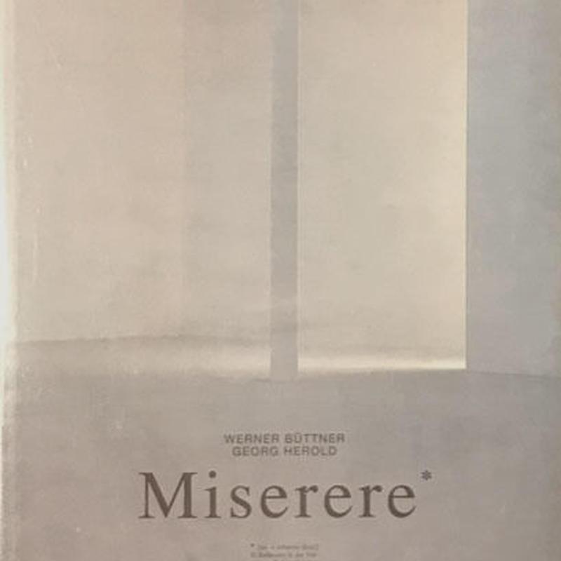 Miserere / WERNER BUTTNER ・GEORG HEROLD