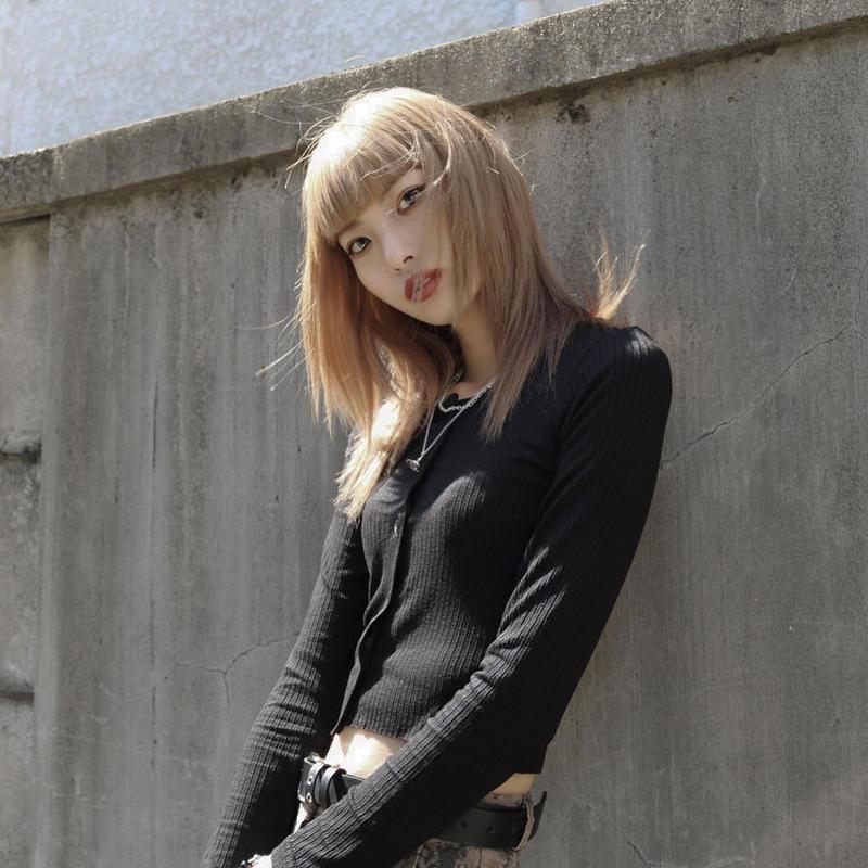 【LR0065】リブカーデイガン
