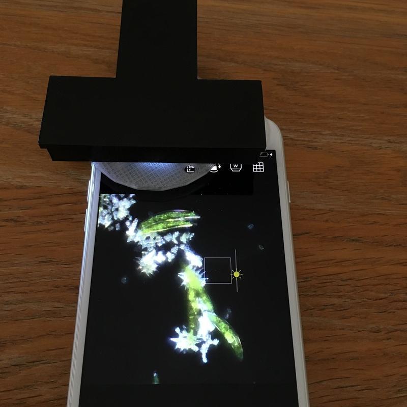 暗視野・蛍光・発光モバイル顕微鏡キット(高倍率)