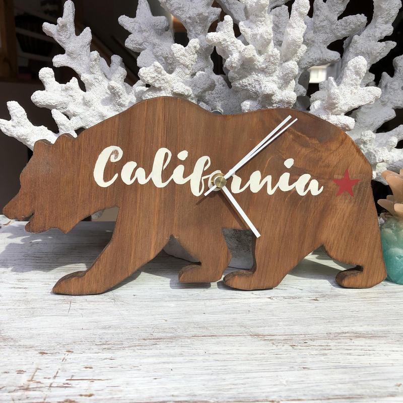 wood clock california
