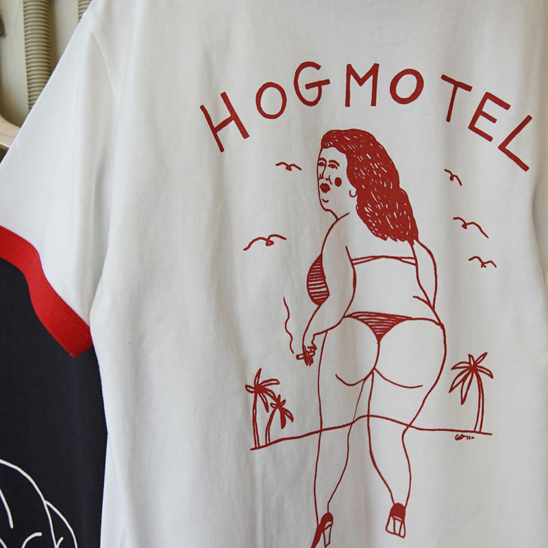 HOG MOTEL Ringer T-shirt
