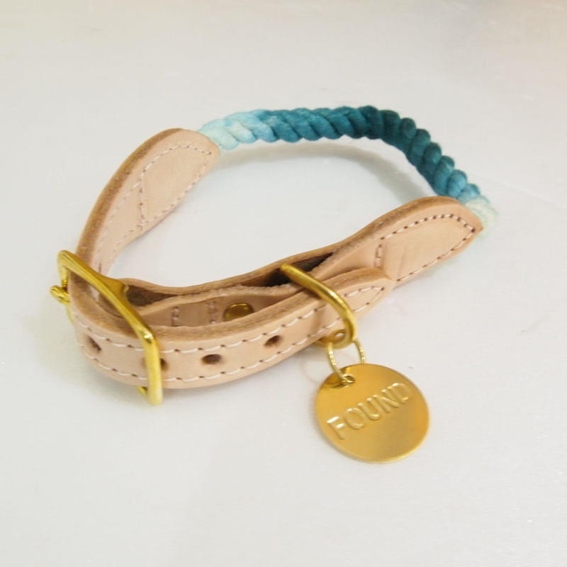 Found My Animal Rope Cat&Dog Collar(TEAL OMBRE)