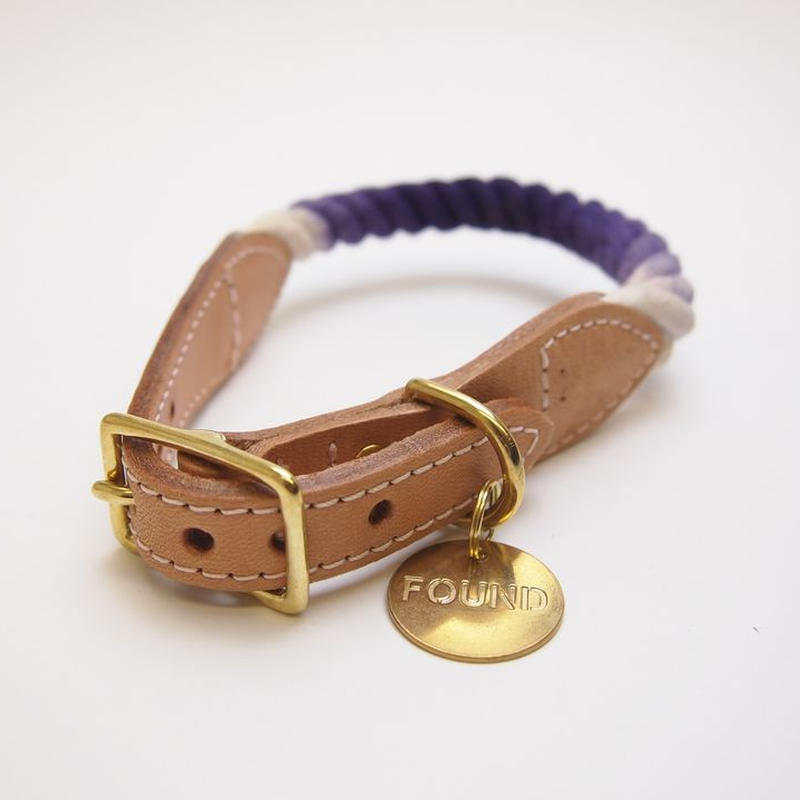 Found My Animal Rope Cat&Dog Collar(PURPLE OMBRE)