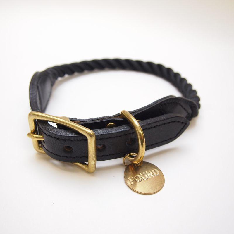 Found My Animal Rope Cat&Dog Collar(BLACK)