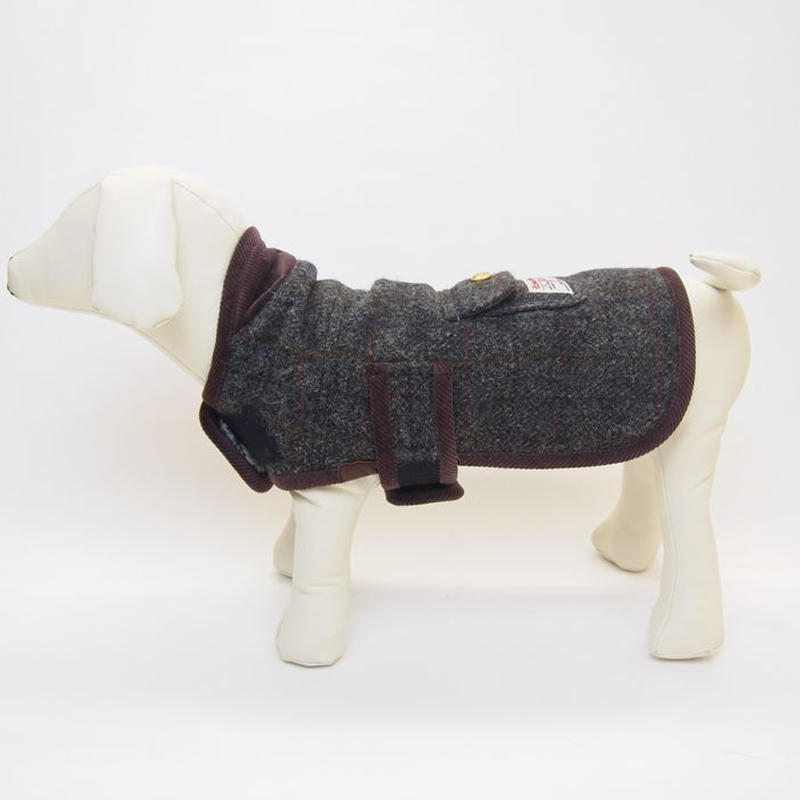 DOG COAT HarrisTweed/LIBERTY BROWN