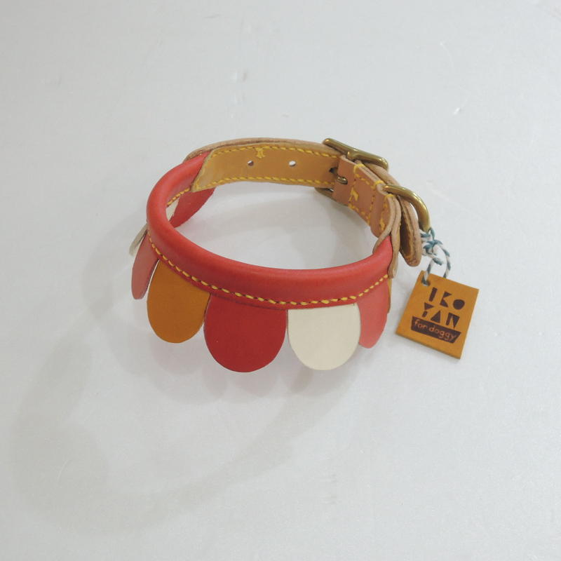 ikoyan for doggy/Garland Collar FLOWER (ROSE×YLW×WHT) サイズ M