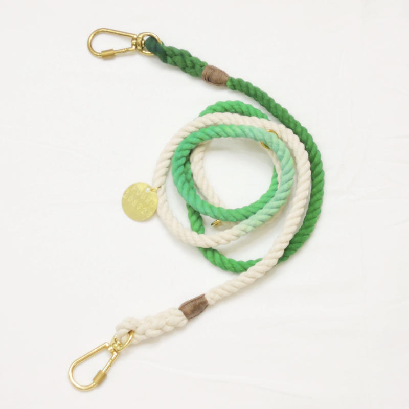 Found My Animal ADJUSTABLE ROPE LEASH(CHARTREUSE OMBRE)