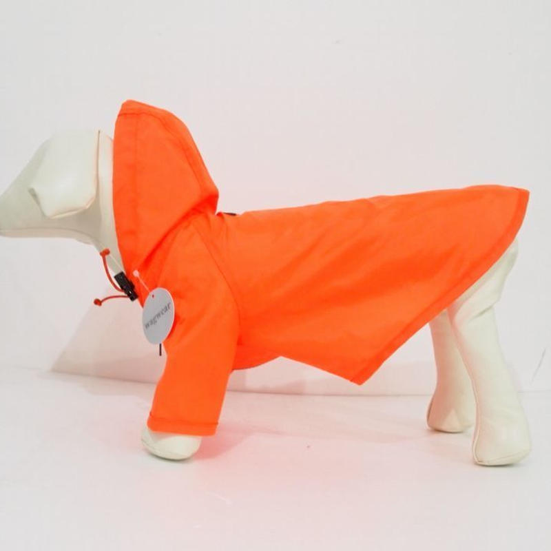 wagwear Nylon Rainbreaker Neon Orange size 16-22