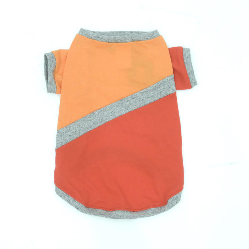 Ware Of The Dog   ORANGE/RED DIAGONAL STRIPE T-SHIRT