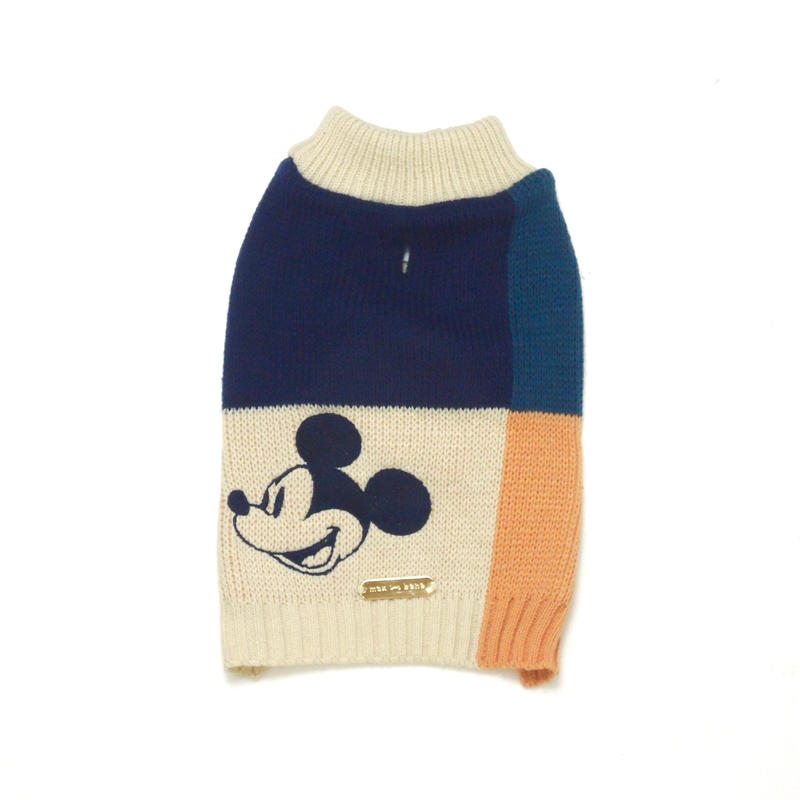 MAX BONE Mickey Mouse Color Blocked Jumper