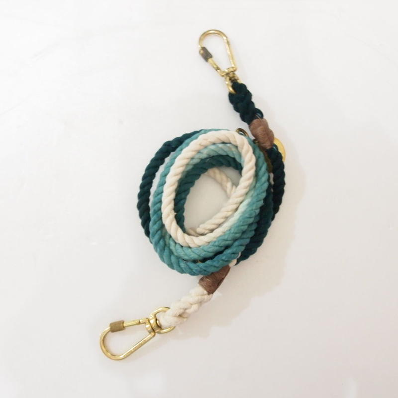Found My Animal ADJUSTABLE DOG LEASH(TEAL OMBRE) 02