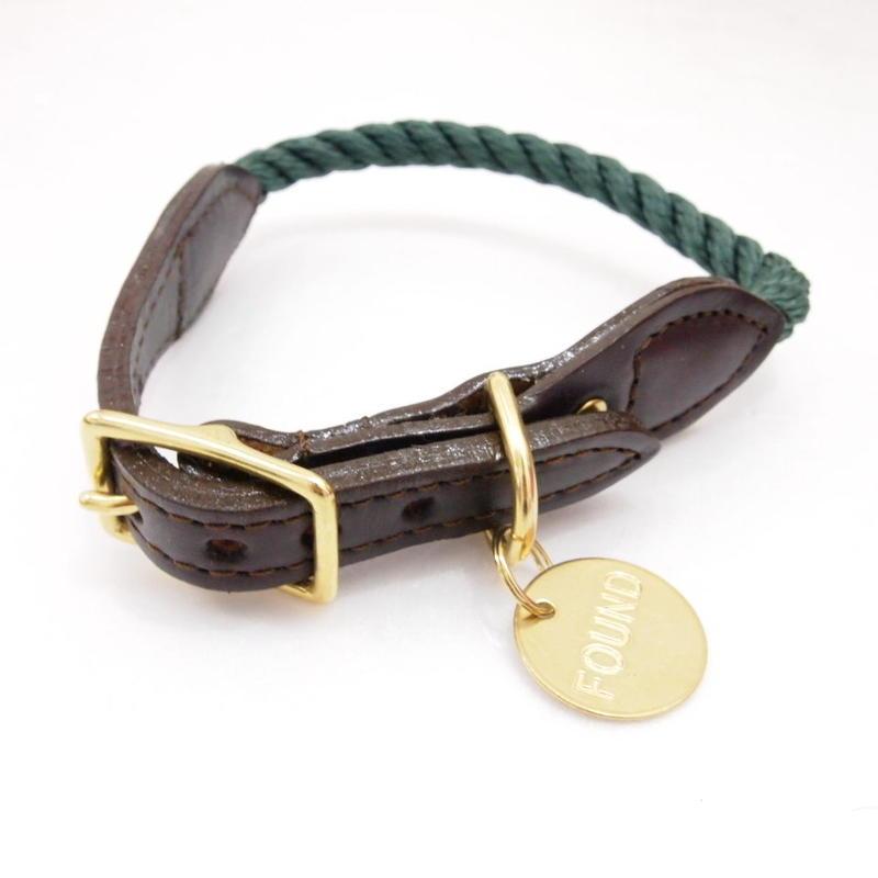 Found My Animal Rope Cat&Dog Collar(HUNTER GREEN)