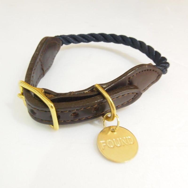 Found My Animal Rope Cat&Dog Collar (NAVY)