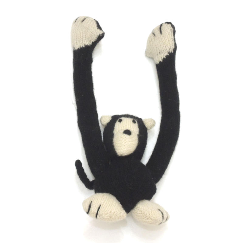 Ware Of The Dog  HAND KNIT MONKEY