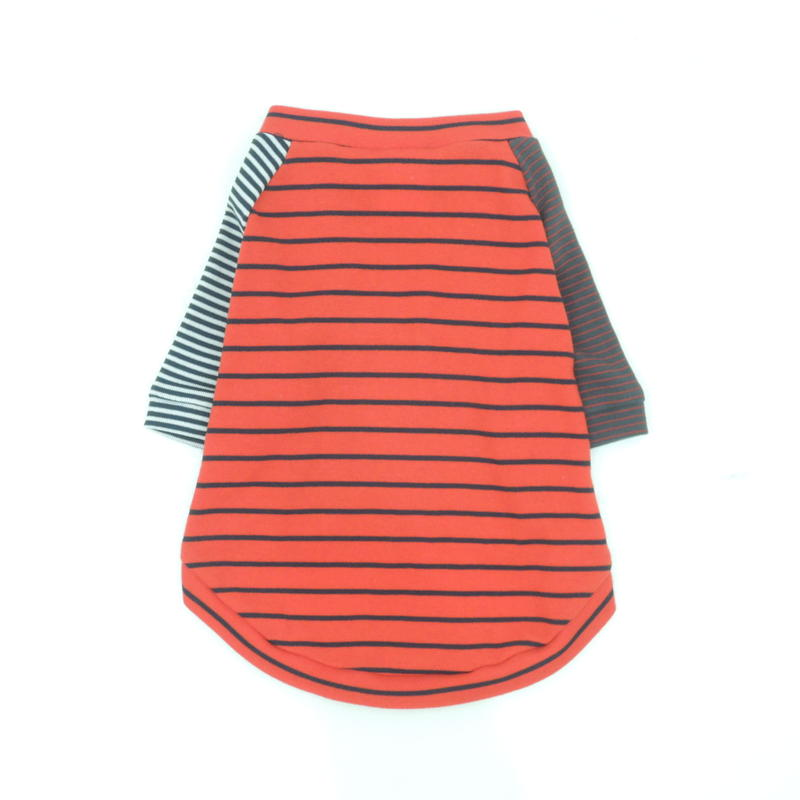 Ware Of The Dog  RED CRAZY STRIPED T-SHIRT