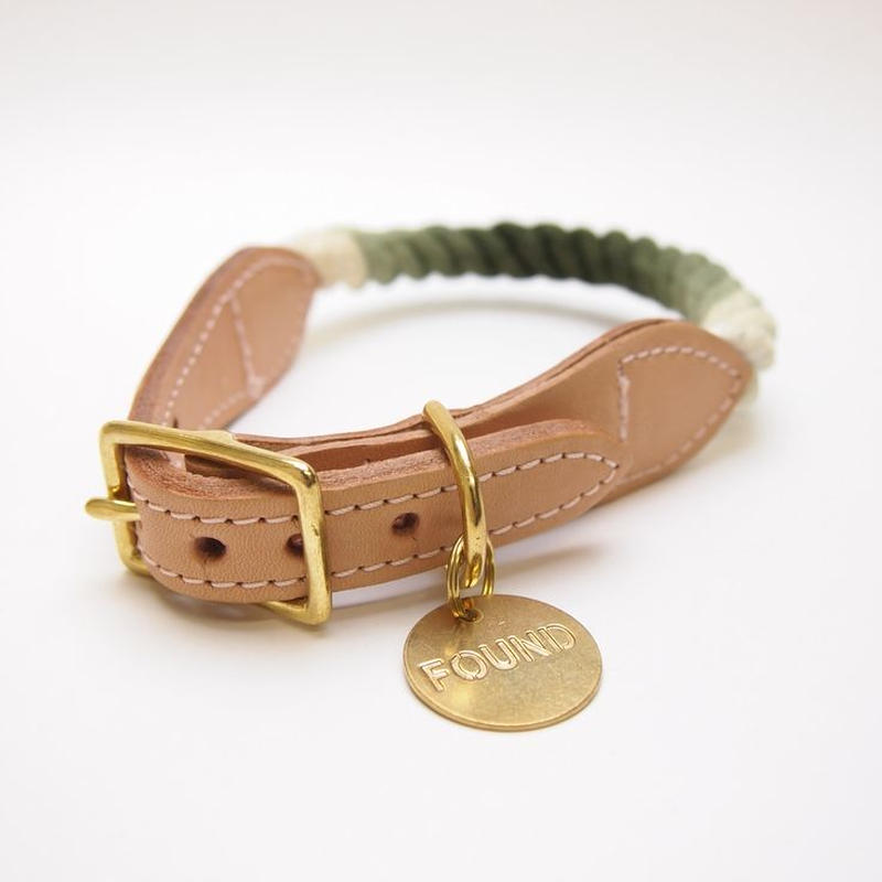 Found My Animal Rope Cat&Dog Collar (OLIVE OMBRE)