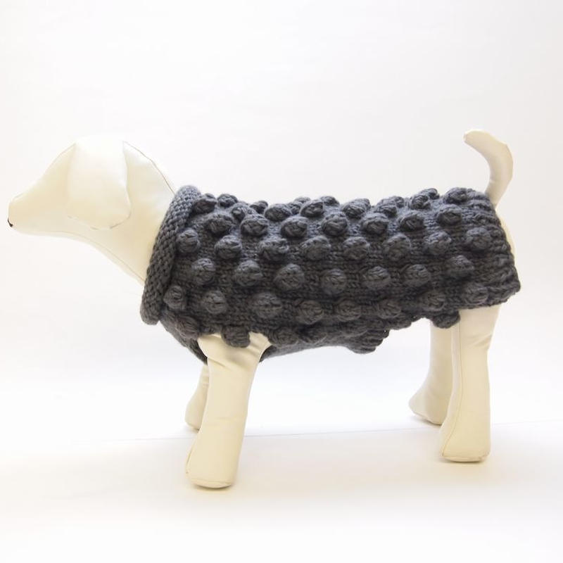 Ware Of The Dog  BOBBLE SWEATER  GREY