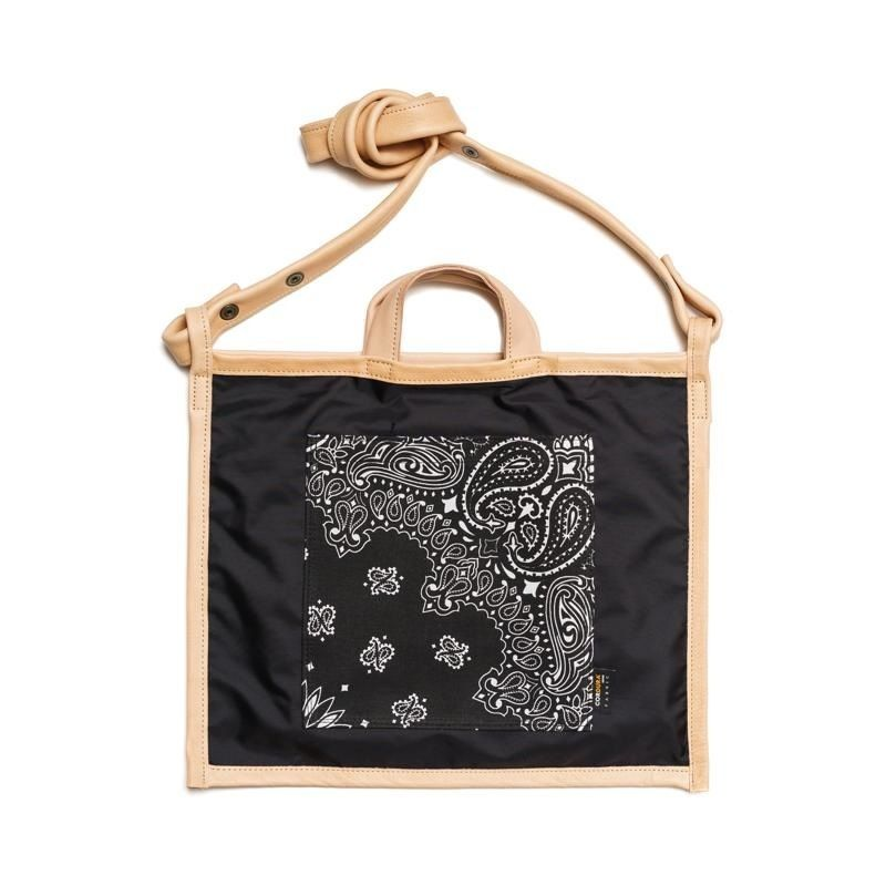LIFE WITH DOG SHOP 2way Bag for Walking (Black×Navy)