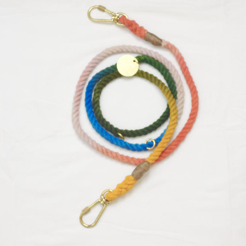 Found My Animal ADJUSTABLE ROPE LEASH(The HENRI OMBRE)