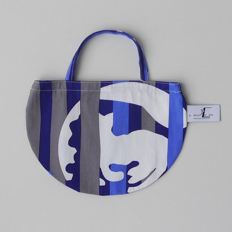 MINI R TOTE           -DEEP BREATH- (BLUE)