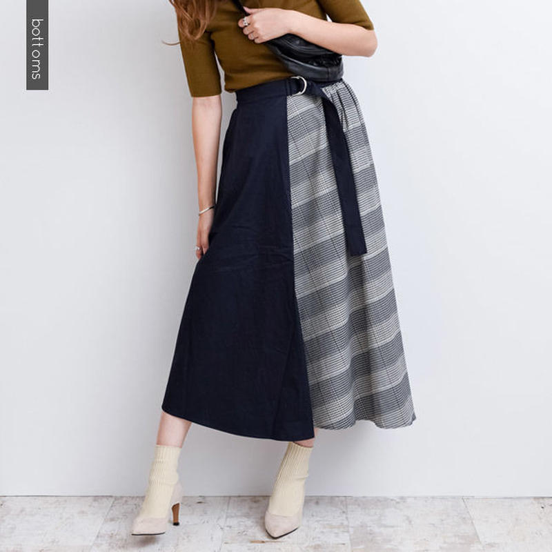 【DAYS デイズ】チェック配色フレアスカート  b0014