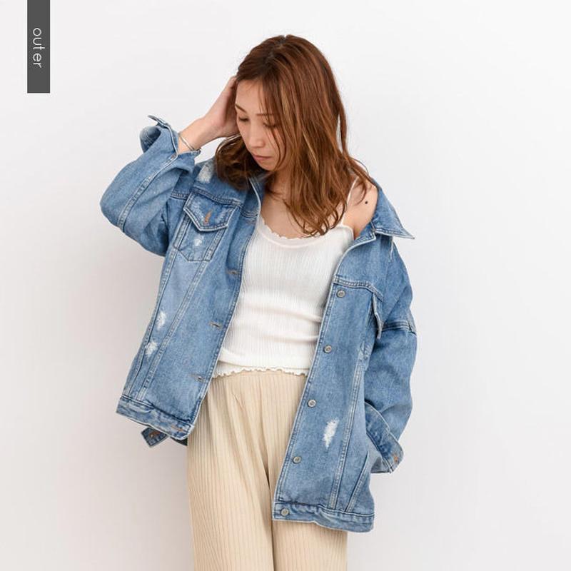 【DAYS デイズ】オーバーデニムジャケット  o0007  春