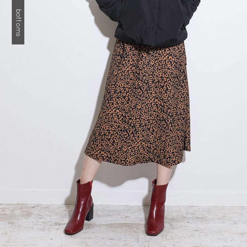 ヒョウ柄ロングスカート    sk0007